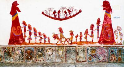 Particolare della casa-museo di Ezechiele Leandro