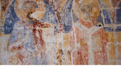 Affreschi nella Chiesa di San Giovanni evangelista, XIV sec.