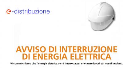 Preavviso di interruzione energia elettrica per Martedì 19 ottobre 2021